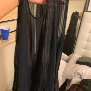 H&M Dresses - Sheer Navy maxi dress